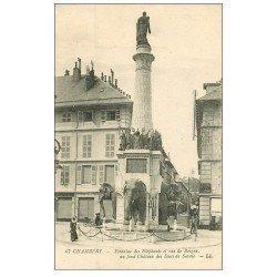 carte postale ancienne 73 CHAMBERY. Fontaine des Elephants rue de Boigne