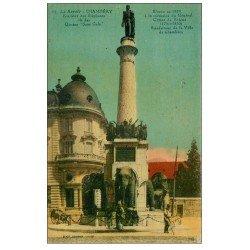 carte postale ancienne 73 CHAMBERY. Fontaine Les Quatre Sans-Culs 1934