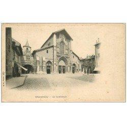 carte postale ancienne 73 CHAMBERY. La Cathédrale vers 1900