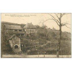 carte postale ancienne 73 CHAMBERY. Maison Rousseau route des Charmettes