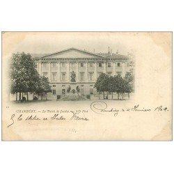 carte postale ancienne 73 CHAMBERY. Palais de Justice. Timbre 10 Centimes 1902