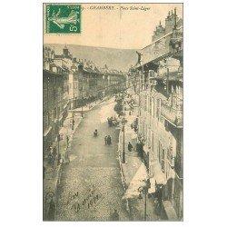 carte postale ancienne 73 CHAMBERY. Place Saint-Léger 1912