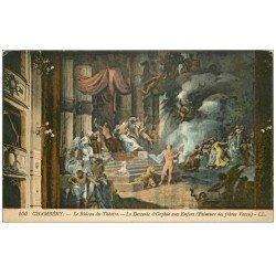 carte postale ancienne 73 CHAMBERY. Rideau Théâtre Orphée aux Enfers