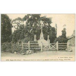carte postale ancienne 56 AUGAN. Monument aux Soldats Morts 1928