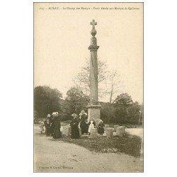 carte postale ancienne 56 AURAY. Croix des Martyrs de Quiberon au Champ