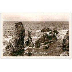 carte postale ancienne 56 BELLE-ILE-EN-MER. Port Coton. Carte émaillographie