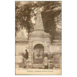 carte postale ancienne 56 CARNAC. Fontaine de Saint-Cornély