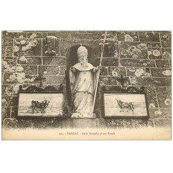 carte postale ancienne 56 CARNAC. Saint-Cornély et ses Boeufs