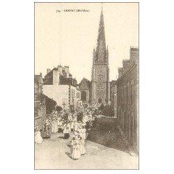 carte postale ancienne 56 CARNAC. Une Procession