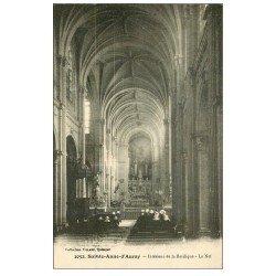 carte postale ancienne 56 SAINTE-ANNE-D'AURAY. La Basilique. Nef et Orgue