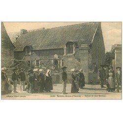 carte postale ancienne 56 SAINTE-ANNE-D'AURAY. Maison du Pieu Nicolasic 1915