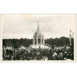 carte postale ancienne 56 SAINTE-ANNE-D'AURAY. Monument Bretons morts à la guerre 1952. Emaillographie