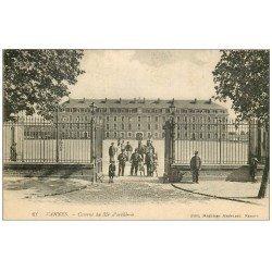 carte postale ancienne 56 VANNES. Caserne Foucher de Careil du 35° d'Artillerie 1917