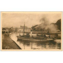 carte postale ancienne 56 VANNES. Le Port et Navire