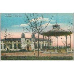 carte postale ancienne 40 DAX. Arènes et Kiosque de la Musique