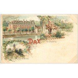 carte postale ancienne 40 DAX. Baignots, Geysers et Tour de Borda vers 1900