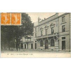 carte postale ancienne 40 DAX. La Caisse d'Epargne 1922