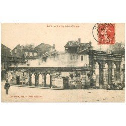 carte postale ancienne 40 DAX. La Fontaine Chaude 1907