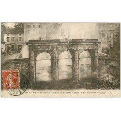 carte postale ancienne 40 DAX. La Fontaine Chaude 1919 source de la Nèhe