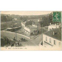 carte postale ancienne 40 DAX. Place du Sablar 1924