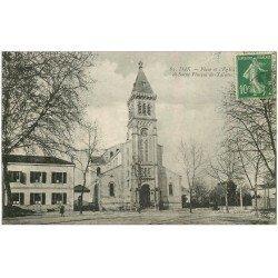 carte postale ancienne 40 DAX. Place et Eglise
