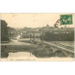 carte postale ancienne 40 DAX. Pont 1924