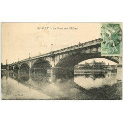 carte postale ancienne 40 DAX. Pont sur l'Adour