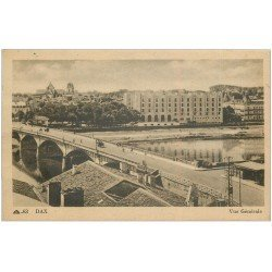 carte postale ancienne 40 DAX. Vue générale et Pont