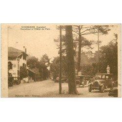 carte postale ancienne 40 HOSSEGOR. Voitures Carrefour Hôtel du Parc