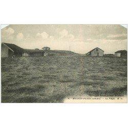 carte postale ancienne 40 MOLIETS. La Plage 1935. Tampon Foyer Vacances Domaine Magenta