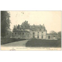 carte postale ancienne 27 ACQUIGNY. Le Château 1906