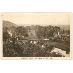 carte postale ancienne 27 ACQUIGNY. Le Château 1936