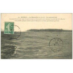 carte postale ancienne 27 AIZIER. Le Mascaret 1923 second flot