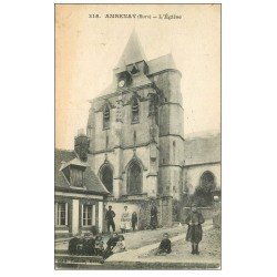carte postale ancienne 27 AMBENAY PAR RUGLES. L'Eglise 1918