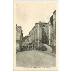 carte postale ancienne 27 BEAUMONT-LE-ROGER. Rue de l'Abbaye