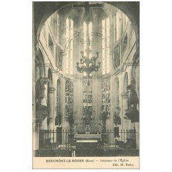 carte postale ancienne 27 BEAUMONT-LE-ROGER. Eglise intérieur