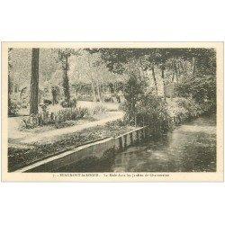 carte postale ancienne 27 BEAUMONT-LE-ROGER. Risle Jardins de Chantereine