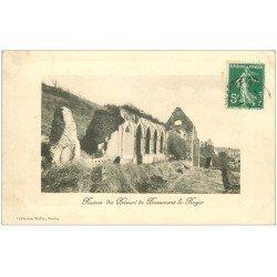 carte postale ancienne 27 BEAUMONT-LE-ROGER. Ruines Prieuré
