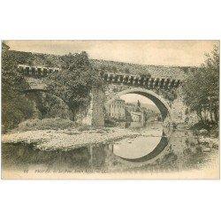 carte postale ancienne 07 PRIVAS. Pont Louis XIII 1922