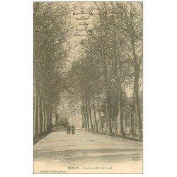 carte postale ancienne 27 BERNAY. Avenue Lottin de Laval 1904