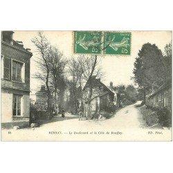 carte postale ancienne 27 BERNAY. Boulevard et Côte de Bouffey vers 1914