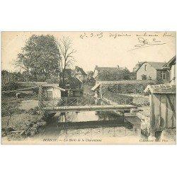 carte postale ancienne 27 BERNAY. Charentonne les Bords 1905