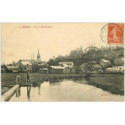 carte postale ancienne 27 BERNAY. Charentonne Pêcheur à la ligne