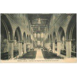 carte postale ancienne 27 BERNAY. Eglise Notre-Dame de Couture intérieur