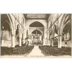 carte postale ancienne 27 BERNAY. Eglise Sainte-Croix