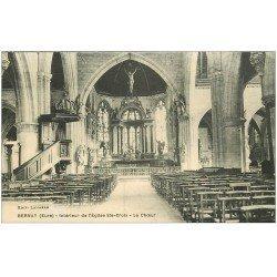 carte postale ancienne 27 BERNAY. Eglise Sainte-Croix Choeur