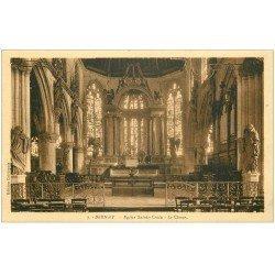 carte postale ancienne 27 BERNAY. Eglise Sainte-Croix Choeur 7