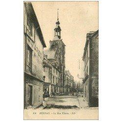 carte postale ancienne 27 BERNAY. La Rue Thiers 1925