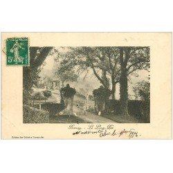 carte postale ancienne 27 BERNAY. Le Long Pré 1912