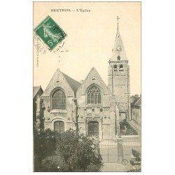 carte postale ancienne 27 BRETEUIL. L'Eglise 1908